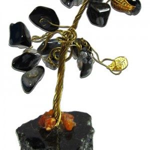 Gemstone Tree / Black obsidian