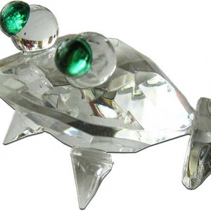Rock Crystal Paper Weight Frog
